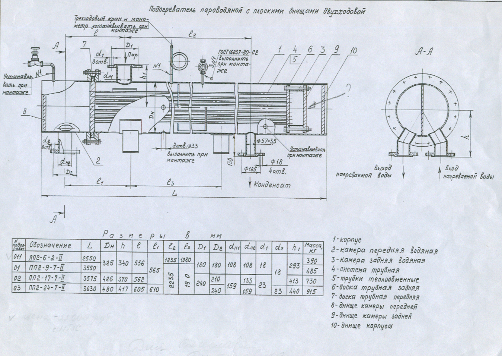 Пароводяной подогреватель ПП 1-32-7-4 Артём Паяный теплообменник KAORI K210 Москва